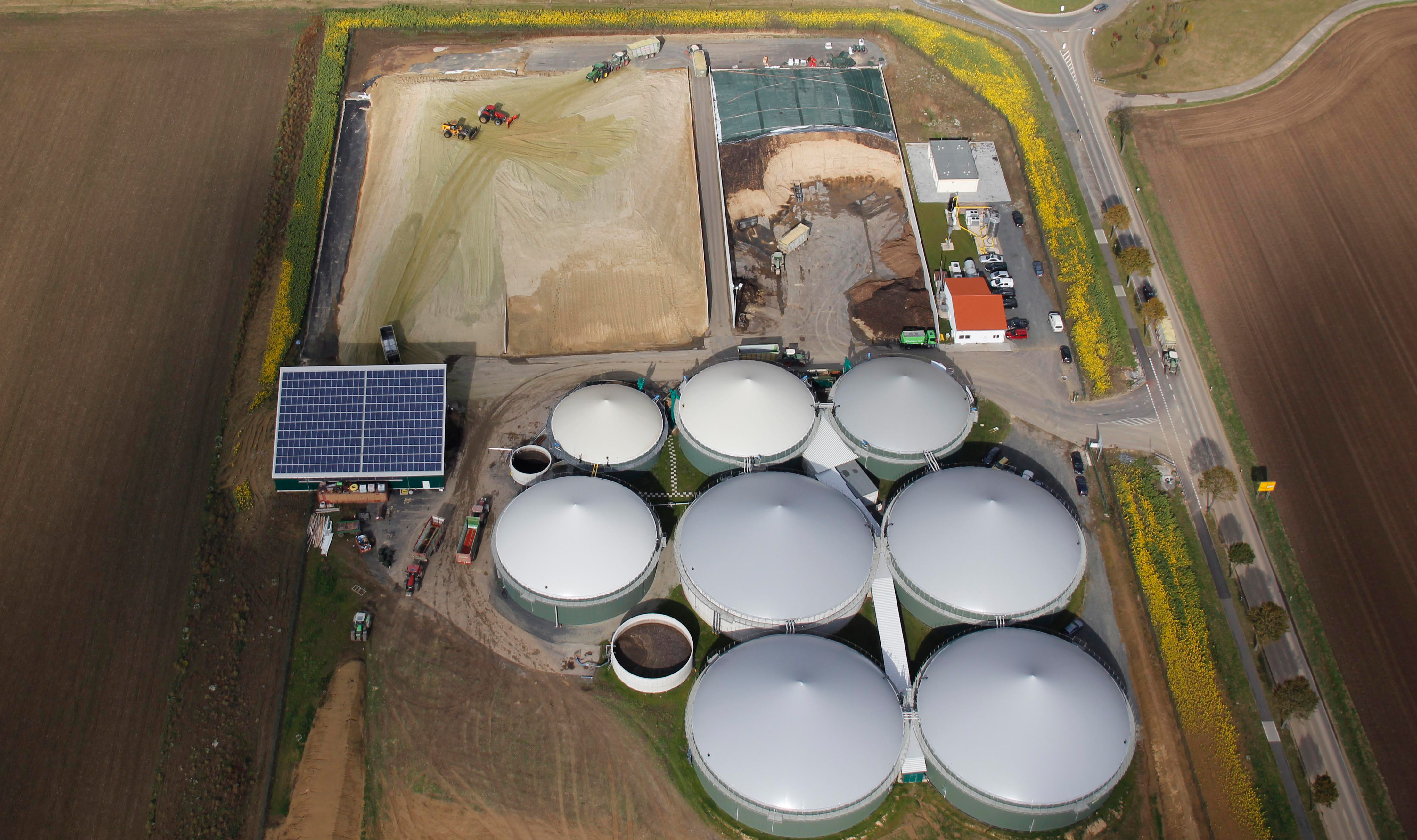 New Report Biogas Sector Still Growing Sun Wind Energy Large Plant Bio Gas Diagram A In Germany Photo Dpa