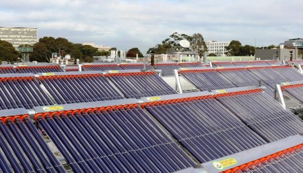 The Solar Field At Monash University Consists Of Vacuum Tube Collectors By Australian Manufacturer Greenland