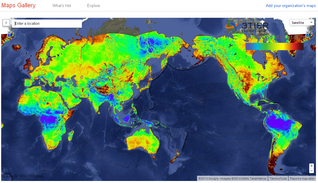 Wind And Solar Maps For Everyone Sun Wind Energy - Solar location map