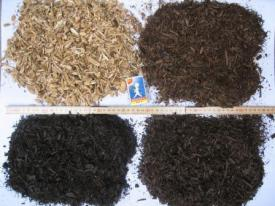 Wood chips in various stages of torrefaction. (Photo: Metso)