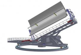 The new test stand for parabolic trough collectors in Spain  (Graphic: CTAER)