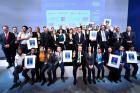 Efficiency and innovation take center stage – the winners of the Intersolar and ees AWARD 2016 (Photo: Solar Promotion)