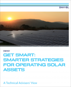 """""""Get Smart"""" incorporates the insights of DNV GL solar experts working on five continents across all major solar market segments. The paper presents successful strategies, case studies and emerging trends useful to solar asset managers and owners. (Photo: DNV GL)"""