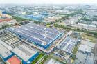 An aerial view of the new PV system on the roofs of the Asia Pacific Breweries Singapore. (Photo: REC)