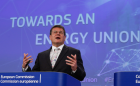 Maroš Šefčovič during his speech at the press conference on the State of the Energy Union. (Photo: dpa)