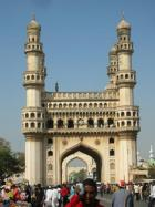"""The """"Charminar"""": a landmark built in 1591 by a sultan, who had shifted the capital of his dynasty to Hyderabad. The monument is symbolising the state of Andhra Pradesh. (Picture: J. Malaviya)"""