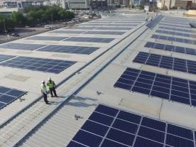 ABB's solar rooftop in Dubai is nearing completion. (Photo: ABB)