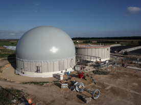 The biomethane plant that is being built in Metheringham, UK. (Photo: Agraferm Technologies)