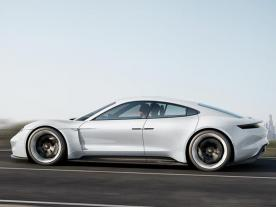 The concept study of Mission E, the all-electric sports car, which Porsche is launching at the end of the decade. (Photo: Porsche AG)