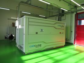 Caption: The CellCube FB 10-40 already installed in Martigny will soon be augmented with a larger model. (Photo: Gildemeister)