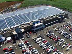 Aerial view of the finished DHybrid Fuel Reduction System at the Super-U shopping centre in Mauritius (Photo: DHYBRID Power Systems GmbH)