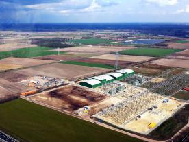 Aerial view of the future converter station in Dörpen.