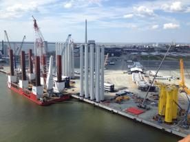 MHI Vestas Offshore Wind is constructing a PCM assembly facility at the Port of Esbjerg (Photo: MHI Vestas)