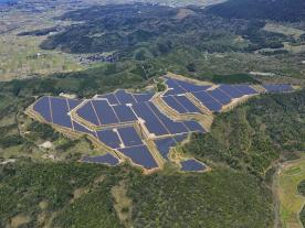 Kyocera's 29.2 MW plant on repurposed land in Yonago (Photo: Kyocera)