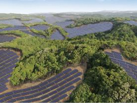 The Kanoya Osaki Solar Hills PV-plant is going to cover an area of about 2 km². (Photo: Kyocera)