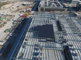 When complete, more than 20,000 solar panels mounted on seel carport structures will cover the area equal to 10 football fields. (Photo: SunPower)