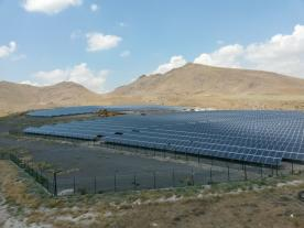 Solar park in Kayseri in Anatolia. (Photo: Schletter)