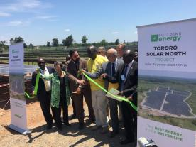 Ribbon's cutting ceremony for Building Energy's Tororo Solar Park in Uganda (photo: Building Energy)