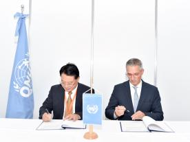 UNIDO Director General LI Yong and Christoph Frei, Secretary General of the World Energy Council (Photo: World Energy Council)
