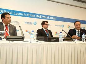 Masdar launched its UAR Wind Atlas at the World Future Energy Summit 2015. (Photo: Masdar)