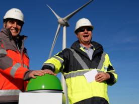 Commissioning of the first turbine in Zuidwester (Photo: RWE Innogy)