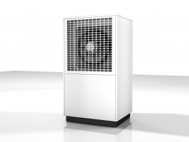 Highly efficient and quiet: all new air-water heat pumps from Dimplex models use the same housing. (Photo: Dimplex)