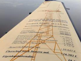 Marketing for an offshore project of Windreich on a wing of a plane. Despite the
