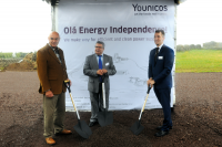 The ground-breaking ceremony for the Graciosa project was attended by representatives of Younicos, the operator Graciolica as well as the Mayor of Graciosa on 27 October 2014. (Photo: Younicos AG)