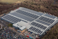 The 3.8 MW rooftop PV system in Telford was developed by EvoEnergy. (Photo: EvoEnergy)