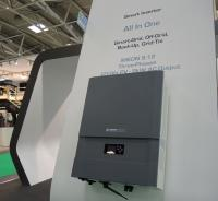 The smart grid inverter by Imeon Energy presented at Intersolar Europe 2016. (Photo: Tanja Peschel)
