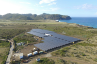 The island St. Eustatius can save up to 30% of the fossil fuels it uses per year thanks to a PV hybrid system. (Photo: SMA)