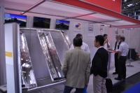 The new parabolic trough collector that perSolar displayed at the Intersolar Europe in Munich. (Photo: Jan Gesthuizen)