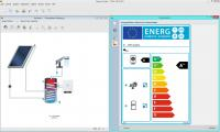 Creating an energy label with the new T*SOL 2016. (Photo: Valentin Software)