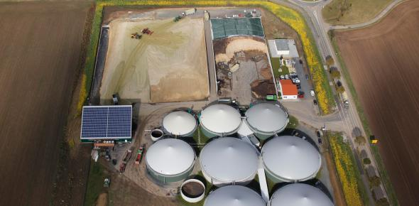 A biogas plant in Germany. (Photo: dpa)